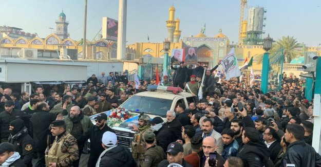 Soleimani, in thousands at the funeral in Baghdad: Death to America