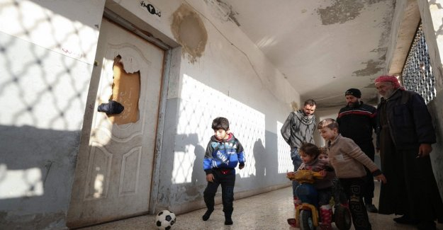 Syria school hit by rockets in government: eight civilians killed, four were children