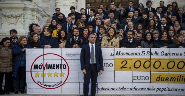 The M5S, Dii Maio change the rules on the restituzioini: the remaining funds not go to Rosseau