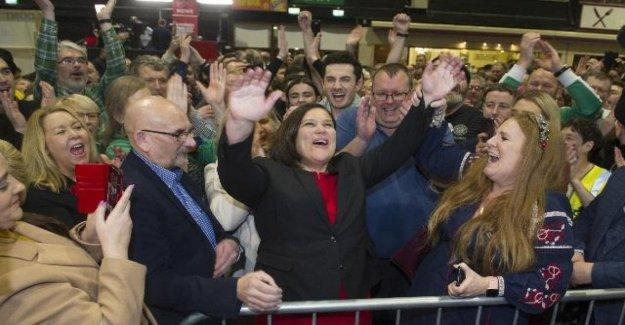 Ireland: bare finished, 38 seats Fianna Fail, 37 Sinn Fein