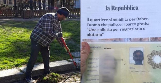 The victory of the neighborhood for Baber: temporary residence permit for the migrant who cleans the park