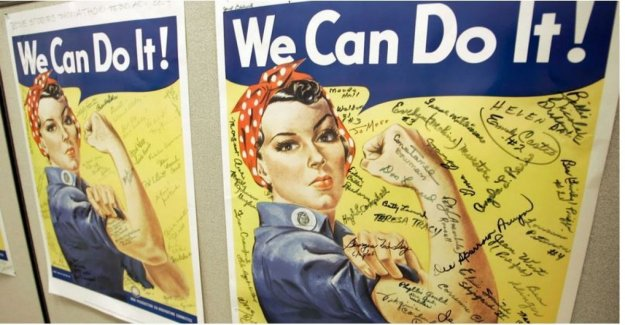Usa is dead, Rosie the riveter: the working-class-symbol, who worked in the tanks against the nazis
