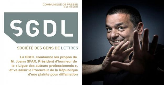 Attacked in libel, Joann Sfar responds to the Society of people of letters