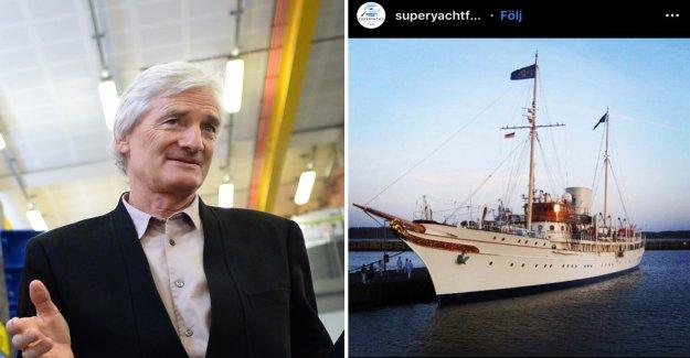 Britain's richest man, shows off lyxyachten in Sweden