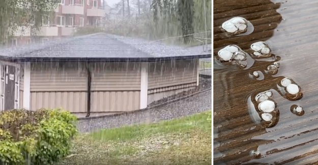 Heavy hailstorm hit, only available in Swedish