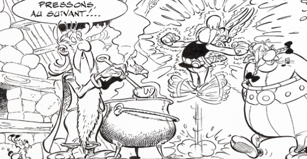 The family Uderzo auctioned, boards of Asterix for the benefit of health care providers