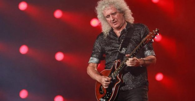 The victim of a heart attack, Brian May, the Queen guitarist, has close to death