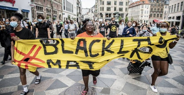 Black Lives Matter in Copenhagen: Under 100 attendees