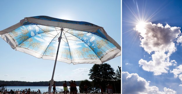 Extremhettan is on the way: 30 degrees celsius in the west of Sweden