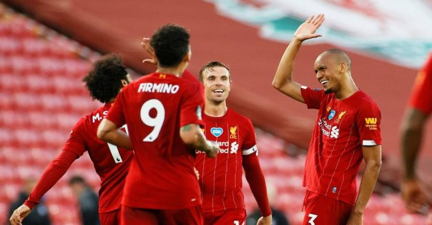 Liverpool win the English championship in football