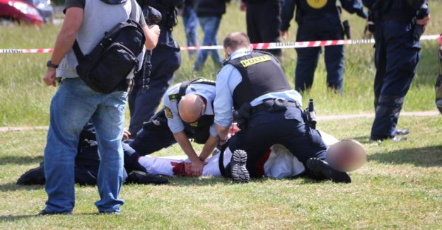 Man shot in the leg to the Paludan-demonstration