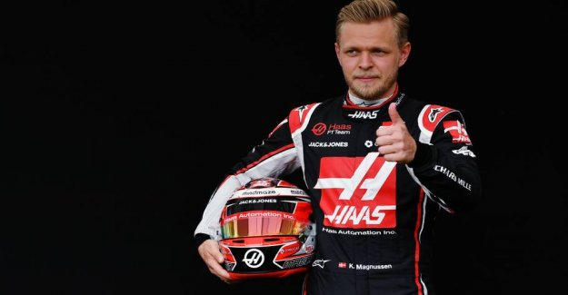 Now you can buy Kevin Magnussens helmet and Empty Ks racing suit