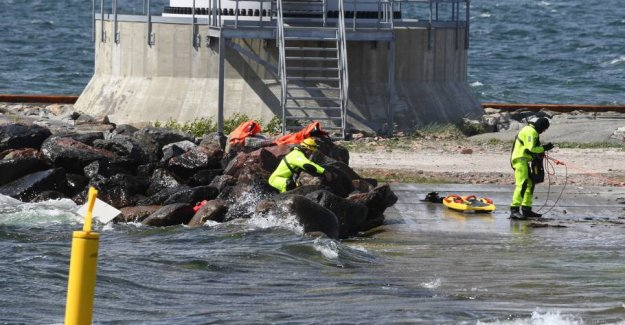 Rescue workers were in action following the discovery of the capsized boat