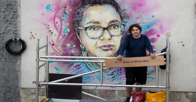 Saint-Ouen boasts a mural in memory of Aisha, the cashier carried away by the Covid-19