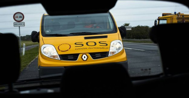 The Danish summer weather can give drivers problems