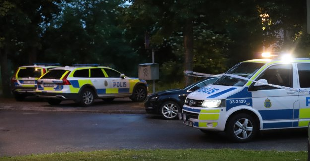 The alarm about the shooting in Husby, in northern Stockholm, sweden