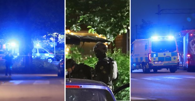 Two men were shot in fairfield in the south of Stockholm, sweden