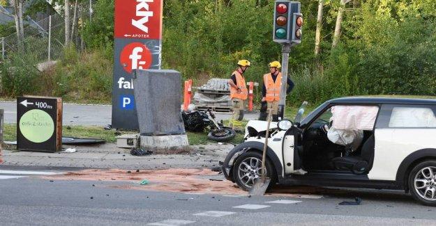 Violent crash on stolen motorcycle