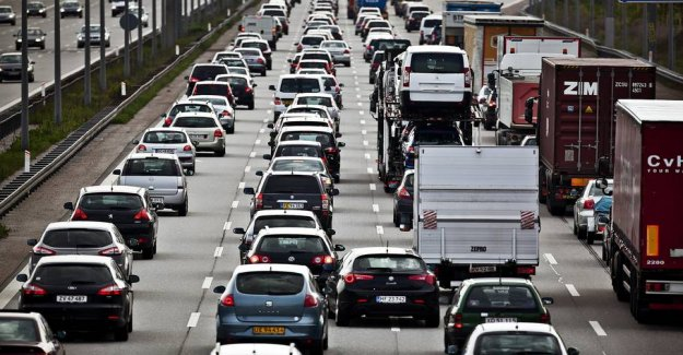 Motorvejskø in the whole country