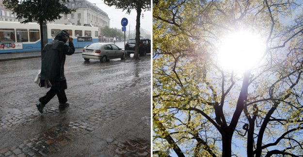 Wind and rain – then the sun is coming back