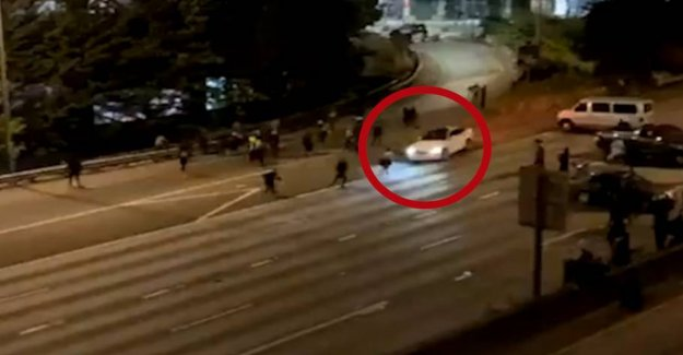 Woman dead after the demonstration in Seattle: Was torpedoed by car