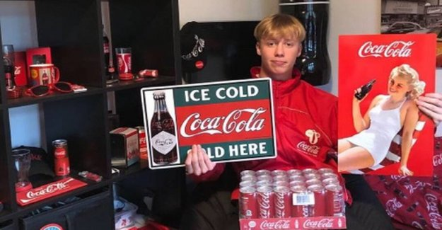 Young together: 17-year-old Anders can't get enough of Coca-Cola