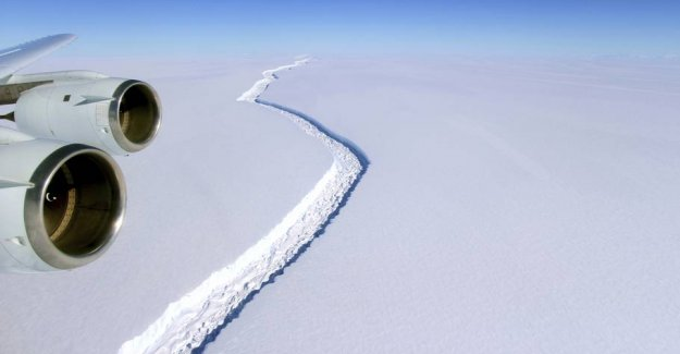 Fly back and forth over Antarctica