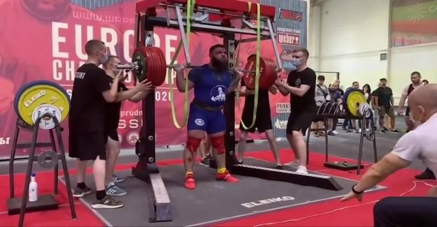 Skrækvideo: Destroys the knees with 400 kilos