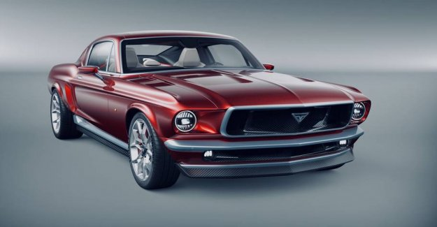 Tesla disguised as a classic Mustang