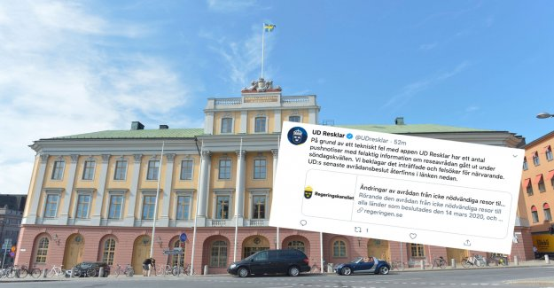 The MINISTRY for foreign affairs, sent out false information about the travel