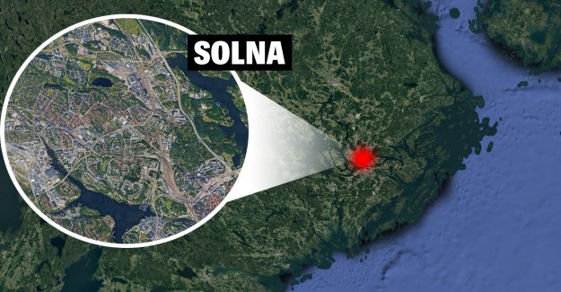 The alarm of a suspected explosion in Solna, sweden