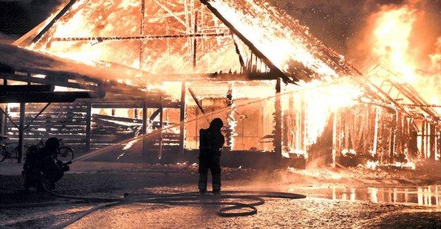 University in Malmö, sweden is in flames