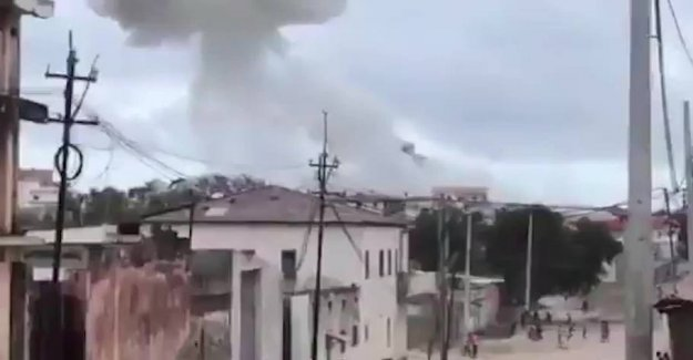 Violent explosion at a luxury hotel in Somalia