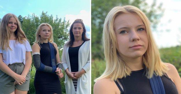 , Wilma,, 14,, broke the arms – the motorist drove away