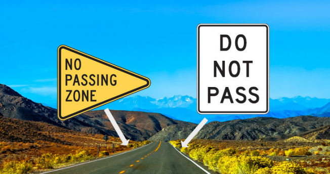 No Passing Zone Sign Meaning