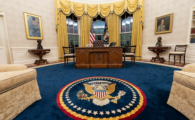 Biden makes Emblematic changes to Oval Office reflecting Targets as president