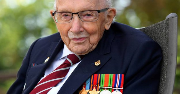 100-year-old war veteran and corona-patron is in the hospital