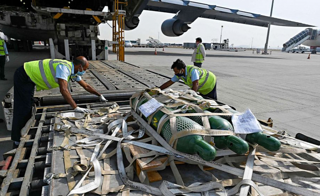 Initial US Help arrives in India amid COVID Emergency