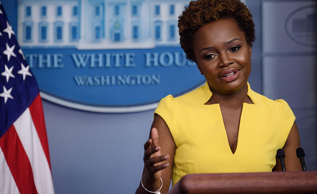 Karine Jean-Pierre makes history as first Black woman in decades to give White House press briefing