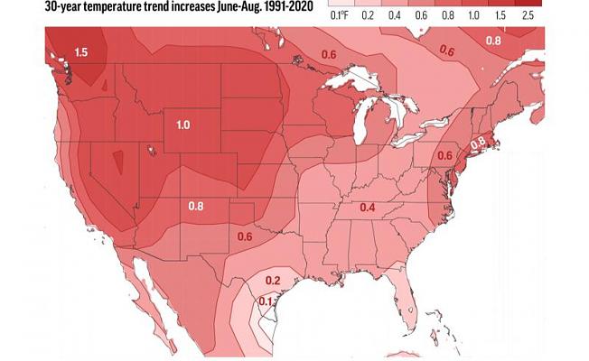 Summer heat trend: East gets hotter, West hotter