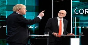 Johnson and Corbyn from the audience laughed...