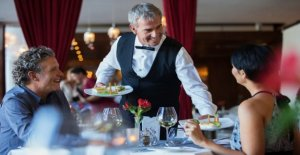 The behavior in the Restaurant reveals about the character