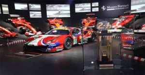 The exhibition Ferrari at the 24 Heures du Mans