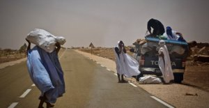Mauritania, the desert is advancing relentlessly, and the people are running away and looking in the city or a better life elsewhere