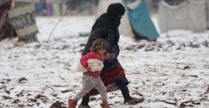 Syria, at least 7 children died of the frost, and the terrible living conditions in the camps for displaced persons in Idlib