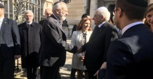 The president Mattarella, in the synagogue, and jewish contribution, the highest in the history of Italy
