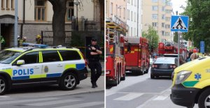 In a hospital fire in the centre of Stockholm, sweden