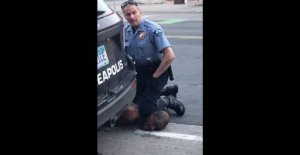 The cop pressed his knees against the black man's neck: Had ten complaints against him