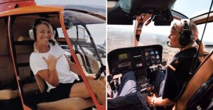 English, Michelle, 29, is a helicopter pilot on the island of Hawaii