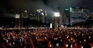 Hong kong bans ceremony for victims from tiananmen Square